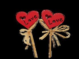 Serce na patyku - 2szt. serduszka, dekoracje