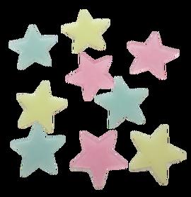 Gwiazdki fluorescencyjne mix - 20szt. samop