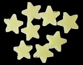 Gwiazdki fluorescencyjne żółte - 20szt. samop
