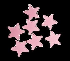 Gwiazdki fluorescencyjne różowe - 20szt. samop