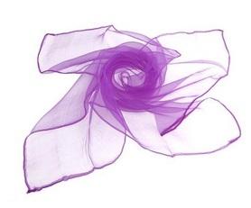 Chusta do tańca, szal, edukacja dzieci, fioletowa 60x60cm