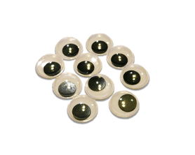 Oczy ruchome samoprzylepne plastikowe 20mm - 10szt.