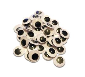 Oczy ruchome samoprzylepne plastikowe 14mm - 40szt.