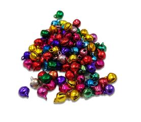 Dzwoneczki 6mm, mix kolorów, 100szt. kreatywne, diy