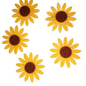 Kwiaty ozdobne słoneczniki 60mm / 5szt.