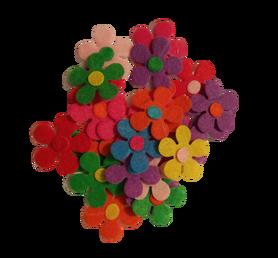 Kwiatuszki filcowe 25mm - 25szt. mix kolorów