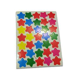 Naklejki ozdobne gwiazdki mix kolorów