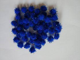 Pompony włochate niebieskie 50szt. kreatywne