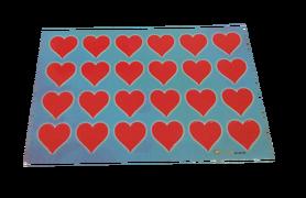 Naklejki czerwone serduszka, serca 24szt, walentynki