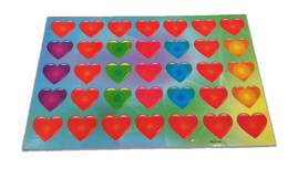 Naklejki serduszka mix kolorów, serca 35szt, walentynki
