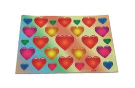 Naklejki serduszka mix kolorów i wielkości, serca 27szt, walentynki