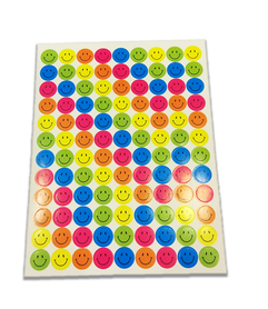 Naklejki emotikony, mix kolorów 108 sztuk! buźki