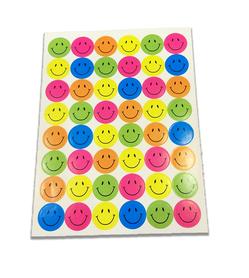 Naklejki emotikony, mix kolorów 48 sztuk! buźki
