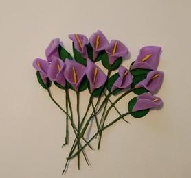 Kalia piankowa z drucikiem, 12szt - fioletowa