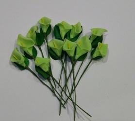 Kalia piankowa z drucikiem, 12szt - zielona