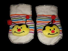 Słodkie skarpetki niemowlęce, osa, antypoślizgowe