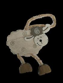 Drewniany baranek wielkanocny, owieczka, wielkanoc