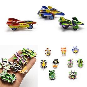 Mini model samochodzik styropianowy, zestaw kreatywny.