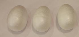 Jajka styropianowe 6cm - 3szt, wielkanoc