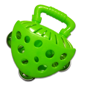 Tamburyno zielone, nauka i zabawa, instrumenty dla dzieci