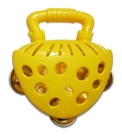 Tamburyno żółte, nauka i zabawa, instrumenty dla dzieci