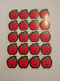 Naklejki ozdobne jabłuszka czerwone