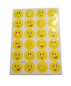 Naklejki ozdobne emotikony 24sztuki, buźki żółte