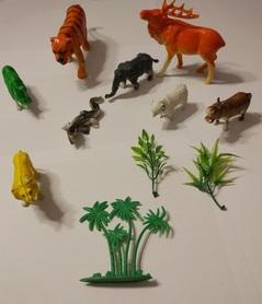 Plastikowe zwierzątka mix, dzikie zwierzęta