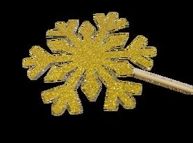 Śnieżki na patyku złote - 5 szt. dekoracje, kreatywne