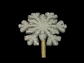 Śnieżki na patyku biale - 5 szt, dekoracje, kreatywne