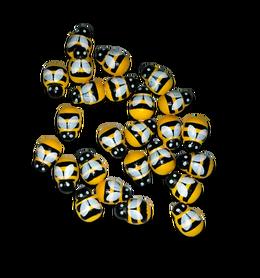 Samoprzylepne drewniane pszczoły - 20szt. kreatywne