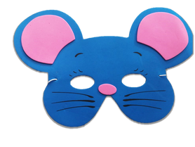 Karnawałowa maska piankowa myszka