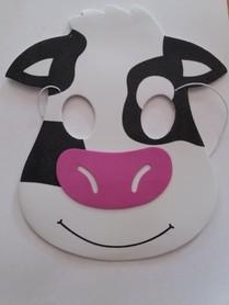 Karnawałowa maska piankowa krówka