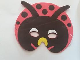 Karnawałowa maska piankowa biedronka