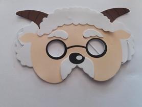 Karnawałowa maska piankowa owca