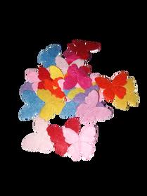 Motylki filcowe mix kolorów - 25 sztuk.
