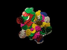 Cekiny baloniki 15mm, ozdoba, kreatywne, mix kolorów