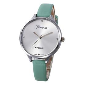 Piękny damski zegarek na rękę, miętowy pasek