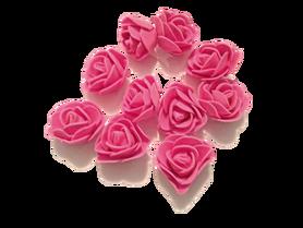 Róże piankowe różowe - 10szt. kreatywne