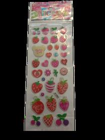 Naklejki 3D arkusz z owocami, mix kolorów i wielkości.