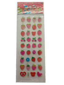 Naklejki 3D arkusz z owocami, mix kolorów i wielkości 2