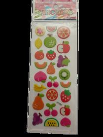 Naklejki 3D arkusz z owocami, mix kolorów i wielkości 4