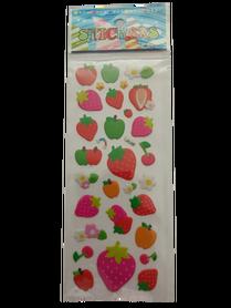 Naklejki 3D arkusz z owocami, mix kolorów i wielkości 5