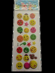 Naklejki 3D emotikony, buźki, minki, mix kolorów i wielkości 4