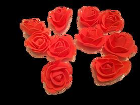Róże piankowe czerwone - 10szt. kreatywne