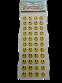 Naklejki 3D emotikony, buźki, minki, mix kolorów i wielkości 8