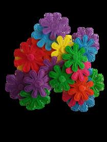 Kwiatuszki filcowe 25mm - 25szt. mix kolorów drobne listki