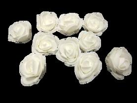 Róże piankowe białe - 10szt. kreatywne