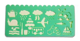 Plastikowy szablon do rysowania - zielony v2