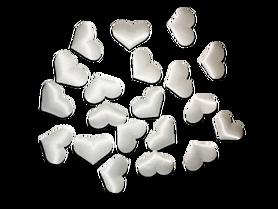 Białe satynowe serduszka poduszeczki - 20szt.
